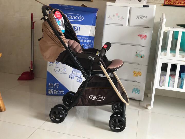 葛莱 美国GRACO可坐可平躺折叠 慧智高景观手推车轻便双向避震 加宽婴儿BB新生儿宝宝 清晰蓝 晒单图