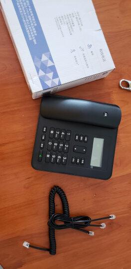 摩托罗拉(Motorola)CT310C固定有绳电话机座机来电显示免电池大屏幕欧式时尚办公商务家用有线座机(黑色) 晒单图