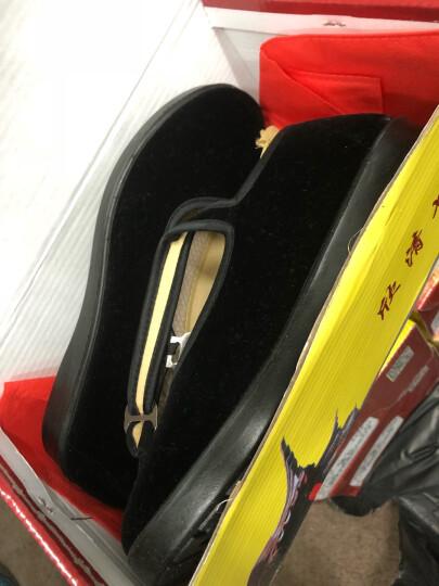 欣清老北京布鞋女鞋妈妈鞋浅口大码中老年人平底鞋黑色单鞋舞蹈鞋 黑色 36 晒单图