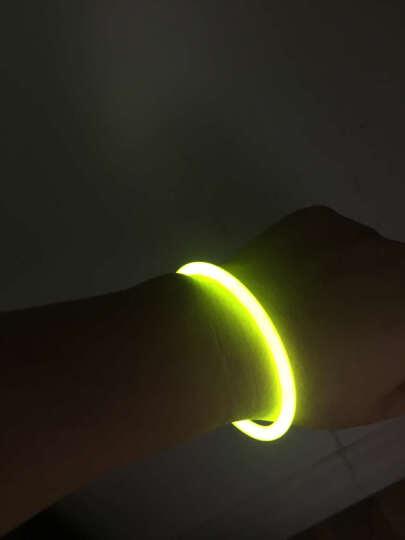 演唱会荧光棒发光棒一次性道具手镯夜跑发光道具手环3C荧光棒8色可选 单根大号电子棒 彩色 晒单图