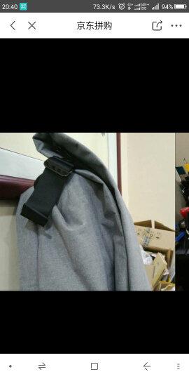 一趣(AFUN)商务笔记本电脑包 双肩包女  大容量男士背包  休闲 背包男女学生书包男包 黑色 17英寸 晒单图