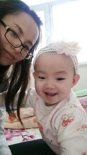 韩版女宝宝蕾丝发带 假发发饰 婴儿童可爱发箍 韩国白天拍照头饰 一朵花深粉色 晒单图