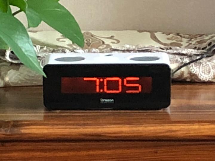 欧西亚闹钟 大屏数字电子钟客厅床头夜光静音投影钟闹铃创意时钟 晒单图