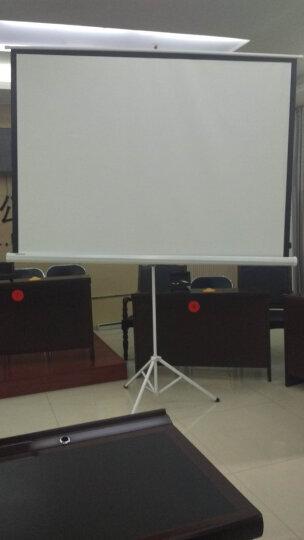 美硕(MEISHUO)投影幕布投影仪幕布 投影机幕布  投影仪通用支架幕布 移动便携屏幕 白塑材质 100英寸4比3支架幕 晒单图