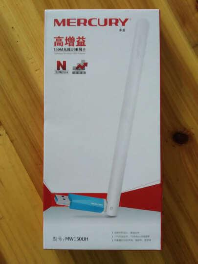 水星(MERCURY) MW150UH 外置天线USB无线网卡 台式机笔记本随身wifi接收器 晒单图