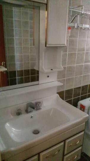 沐良卫浴 浴室柜洗脸盆柜组合现代简约卫浴柜洗手盆欧式PVC玉石浴室柜组合 B款(陶瓷盆抽拉龙头) 0.8米 晒单图