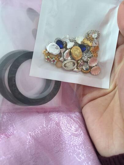 美甲美甲合金属饰品指甲配件立体组合装饰日系水钻石椭圆宝石大蝴蝶结 M16 晒单图