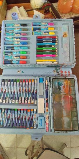 迪士尼(Disney)72件套水彩笔/彩色铅笔/蜡笔颜料绘画礼盒套装 E0032F 晒单图