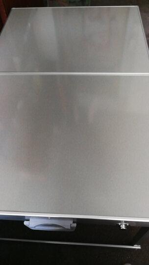 蒂利仕 野餐桌折叠桌户外桌椅组合套装铝合金折叠桌椅便携式分体烧烤桌宣传桌子 单独无孔桌子 108*68*68cm 晒单图