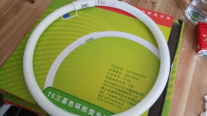 佛山照明(FSL)T5环形荧光灯22W/YH22W/865节能灯 白光 3支装 晒单图