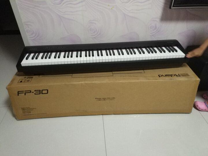 罗兰(Roland) Roland 罗兰电钢琴 FP30 RP501智能电钢 88键重锤数码钢琴 FP30白色主机+单踏板+X型架+双人琴凳等全套 晒单图