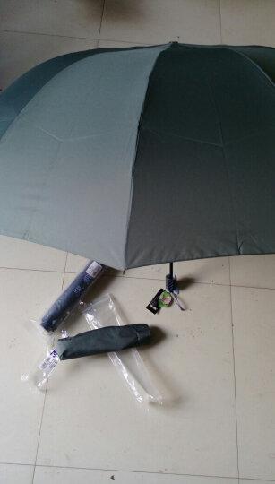 天堂伞 三人大号男士折叠晴雨伞 十骨三折商务太阳伞 可定制广告伞印字logo  33212 草绿色 晒单图