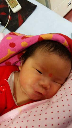 婴泰 婴儿浴巾纯棉纱布强力吸水新生儿抱被盖毯 蓝色草莓 100*90 晒单图