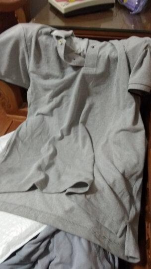佐丹奴Giordano男装Polo弹力棉拼色青蛙绣章POLO衫01018700 06雪花深翡翠蓝色 大码(175/100A) 晒单图