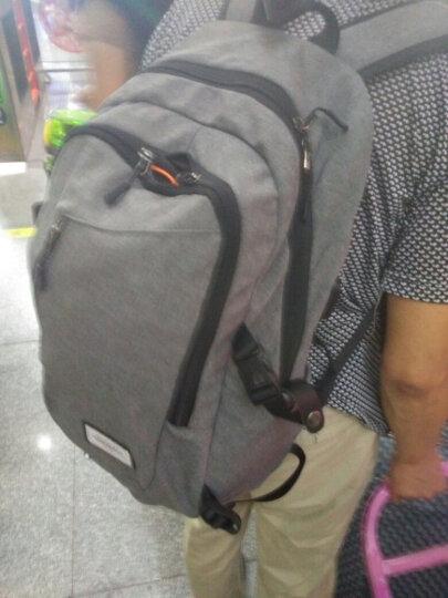 vanwalk 背包双肩包书包男旅行包商务双肩电脑包15.6英寸中学生多功能笔记本包 D2239-168(灰色) 晒单图