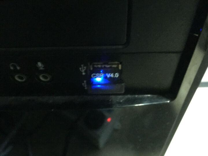 蓝牙适配器接收器4.0免驱USB蓝牙 适用于笔记本台式电脑音频接收 创意配件 黑色 方形 晒单图