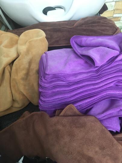 【9.9包邮】雅尔顿家纺 面巾加厚干发帽美容美发毛巾 吸水性强 超细纤维面巾 儿童婴儿毛巾 1条 咖啡色 晒单图