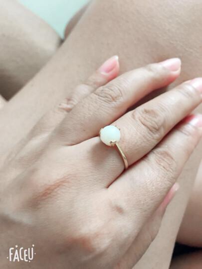 石瑾记和田玉耳钉戒指女款925银首饰套装 附证书 戒指圈口可调 晒单图