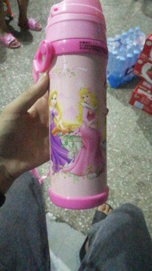 迪士尼(Disney)304不锈钢保温杯儿童水杯学生杯子吸管背带户外水壶 480ML HM1912-2 米妮粉色 晒单图