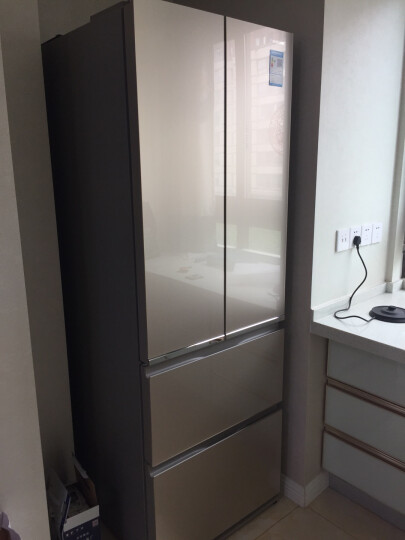 松下多门冰箱NR-DE39TXP双层大冷冻 风冷无霜变频380L 钢化玻璃面板光动银除菌 银色 晒单图