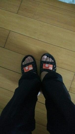 天淑 凉拖鞋女男夏季防滑情侣浴室洗澡拖鞋漏水亲子可爱室内居家软底按摩 男-黑色 44-45(适合43-44码的脚穿 ) 晒单图