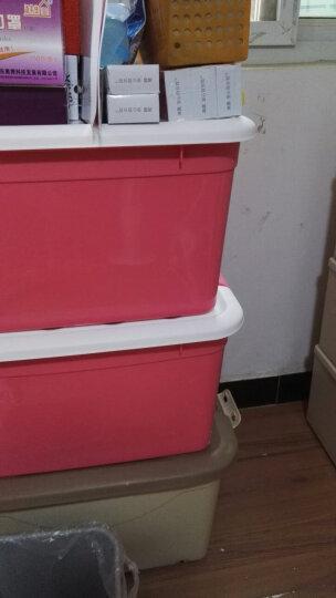 禧天龙Citylong 塑料收纳柜抽屉式单层可组合儿童衣物玩具储物柜抽屉柜2个装冰蓝35L 5052 晒单图