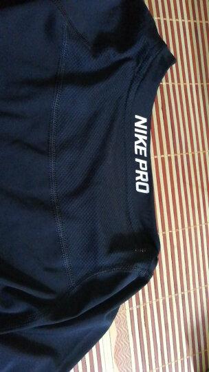 NIKE 耐克pro短袖紧身衣 跑步训练男款运动T恤 夏季健身服 703095-010黑/深灰/白 M(170/88A) 晒单图