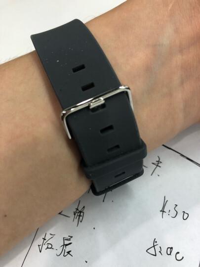 白令(Bering)时尚针扣硅胶表带简约休闲防水硅胶男女表带 400 男款20mm 晒单图