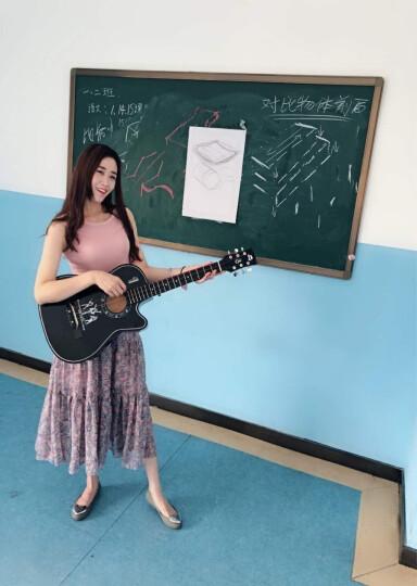 歌西GIXE民谣吉他单板初学者新手入门木吉它jita乐器 38寸粉色+配件+入门课程 吉他 晒单图