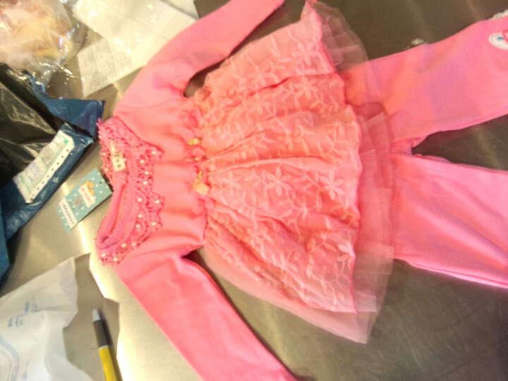 嘉乐宝杰斯卡 1-2-3岁女宝宝春秋装套装 新款女童连衣裙 长裤2件套 婴儿服装套装 粉色 12码建议身高90-100cm 晒单图