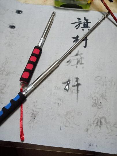 福莱克教学教棍伸缩教鞭 不锈钢伸缩旗杆 导游杆 户外旗杆1.2米1.4米1.6米2米 导游旗杆 2.5米 红色 晒单图