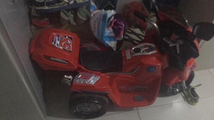宝贝虎 新款儿童电动车三轮车摩托车宝宝可坐玩具车男女小孩电瓶车童车1-4岁 大红色 晒单图