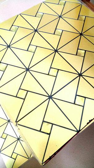千羽 马赛克金属铝塑板自粘带背胶自贴电视墙背景墙贴瓷砖KTV装修室内客厅欧式风车三角 A款三角金拉丝金钻 晒单图