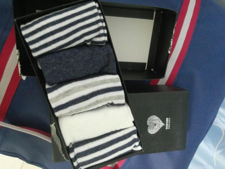 南极人 袜子男短袜防脱运动船袜男袜子男士棉袜5双混色礼盒装隐形袜NJRCW 男款舒适条纹 晒单图