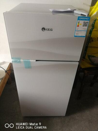 韩电(KEG)102升小型双门电冰箱 钢化玻璃面板 冰箱 小 办公家用学生租用 印象白 BCD-102D 晒单图