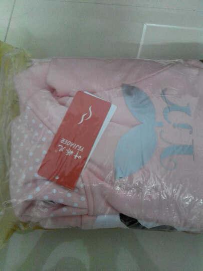 叶娇儿 孕妇套装 春夏装 孕妇时尚连帽卫衣运动休闲套装 小熊粉色加绒款B45 XL 晒单图