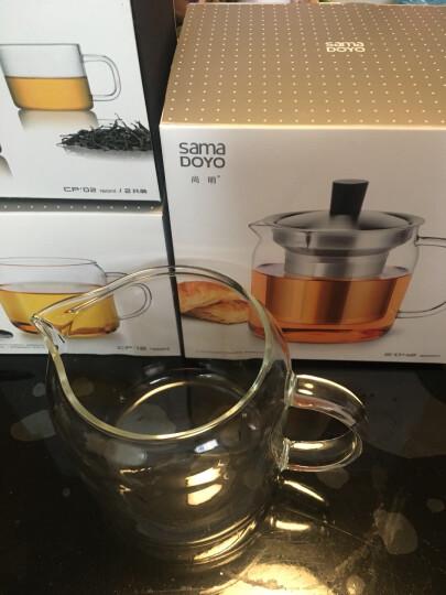 尚明(samaDOYO)耐热玻璃茶壶泡茶壶不锈钢过滤家用大容量泡茶器加厚茶具套装 500ml配茶盘(送2杯) 晒单图