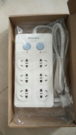 航嘉(Huntkey)大白602 6位1.8米 单排开关 插座/排插/插排/插线板 晒单图