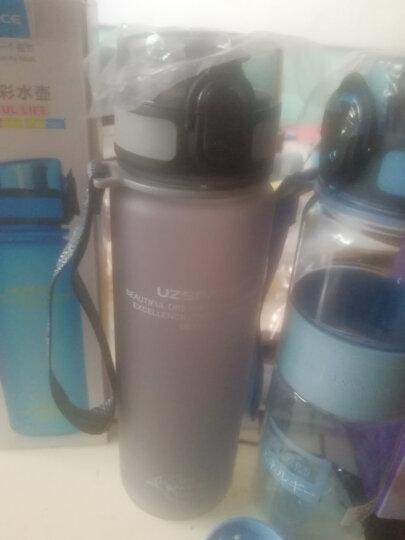 UZSPACE 优之炫彩运动水杯塑料水壶男女情侣学生户外旅行健身便携随手杯弹盖杯子 磨砂深灰 500ML 晒单图