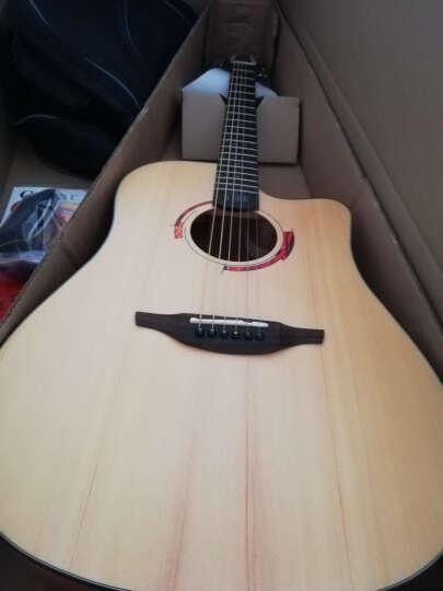 Nightwish 拉维斯 单板民谣吉他木吉他41寸初学者乐器 米维斯S 米维斯2S 云杉胡桃木 41寸 晒单图