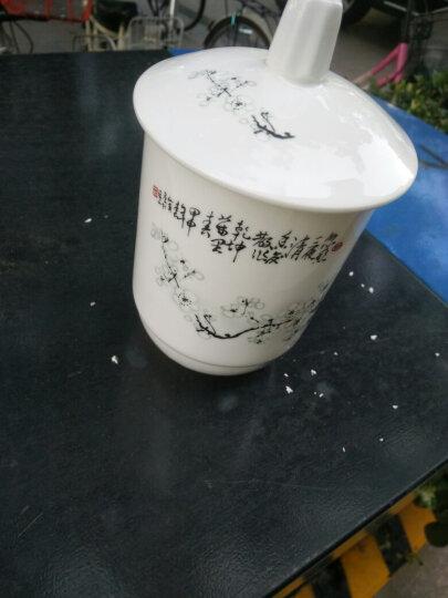 清心养目 景德镇骨瓷茶杯套装 350ml中南海金边骨瓷会议盖杯 办公会议陶瓷带盖茶杯子水杯 中国龙 晒单图