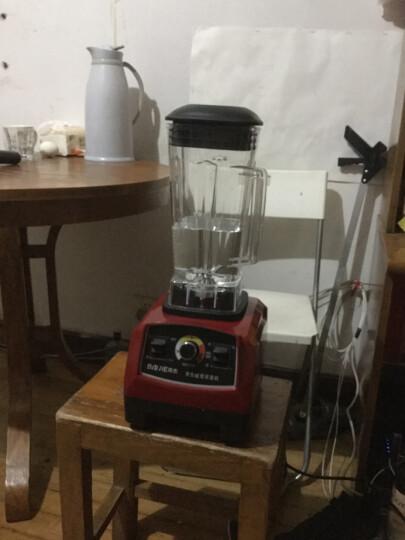 拜杰(BJ) 碎冰机商用 刨冰机家用沙冰机电动搅拌机大马力榨汁机豆浆机果汁机 银色 晒单图