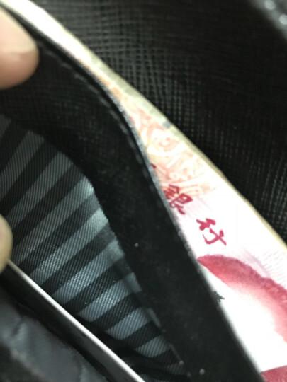 摩登鸟 男士钱包真皮长款钱包 男 韩版牛皮超薄钱包卡包 男钱夹 MD115 海军蓝 晒单图