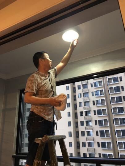 凯慕思 LED吸顶灯 现代简约卧室灯餐厅灯阳台灯 个性超薄照明灯具 抹茶绿 Φ40cm 三色分段 24W 晒单图