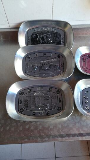 瓷彩美(CECEME)创意欧式果盘 马口铁不锈钢盘子现代客厅餐具零食托盘小吃干果收纳 农夫款 盘子 晒单图