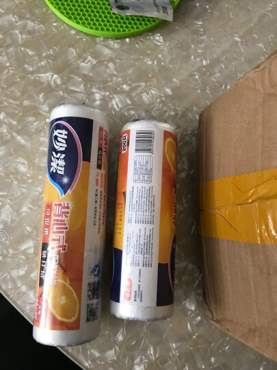 妙洁(MIAOJIE) 保鲜袋PE点断式/背心式可选微波炉冰箱食品水果包装袋食品袋手提袋 点断式大号3卷 晒单图