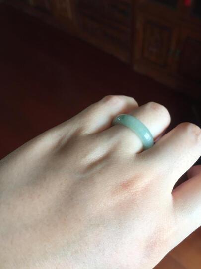 麓川古翠6707缅甸A货翡翠戒指男士女士戒指指环 编号4811指环一枚(29号) 晒单图