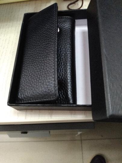 新款钥匙包男皮 男士皮汽车钥匙包 多功能男式皮钱包钥匙包W 晒单图