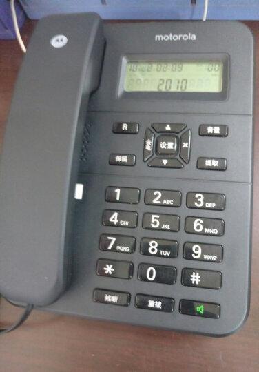 摩托罗拉(Motorola)CT202C固定有绳电话机座机来电显示免电池免提办公商务家用欧式时尚有线座机(黑色) 晒单图
