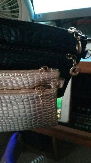 韩版小包包潮信封女士手包小包鳄鱼纹女士单肩斜挎女包 两层黑色 晒单图
